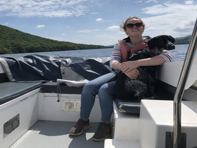 Beth on a Boat
