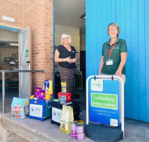 Sarah Hicks Delivering the Donations to the Taunton Centre