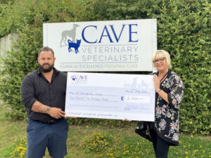 Our Cheque to St Giles Resue Centre